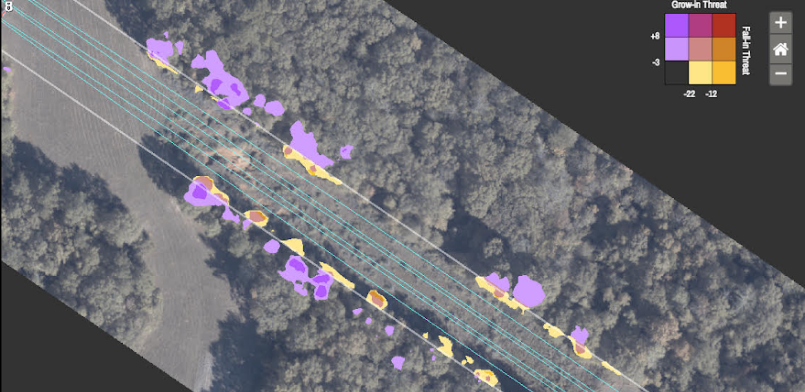 Utility line vegetation mapping by GeoCam